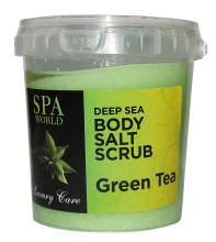 salt scrub green tea